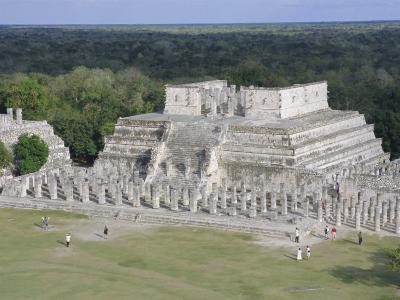 Temple of the Warriors, Chichen Itza, Mexico, Central America-Robert Harding-Photographic Print