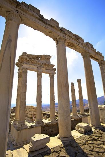 Temple of Trajan, Bergama (Pergamum), Anatolia, Turkey, Asia Minor, Eurasia-Neil Farrin-Photographic Print