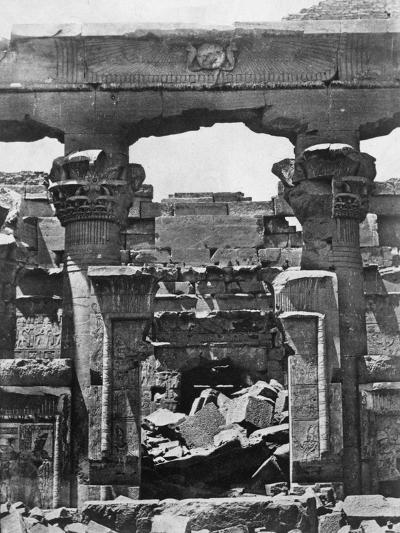 Temple Ruins, Egypt, 1852-Maxime Du Camp-Giclee Print