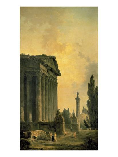 Temple Ruins-Hubert Robert-Premium Giclee Print
