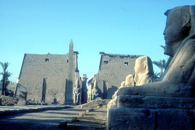 Temple Sacred to Amun Mut and Khons (Khonsu), Luxor, Egypt-CM Dixon-Photographic Print