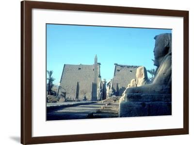 Temple Sacred to Amun Mut and Khons (Khonsu), Luxor, Egypt-CM Dixon-Framed Photographic Print