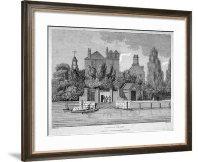 Temple Stairs, Middle Temple Lane, City of London, 1801-E Harding-Framed Giclee Print