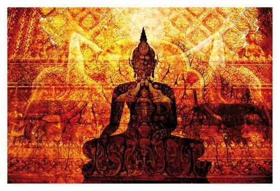 Temple with Akar Yoga-Daniel Stanford-Art Print