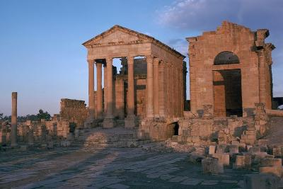 Temples in the Forum of Sufetula, 2nd Century-CM Dixon-Photographic Print