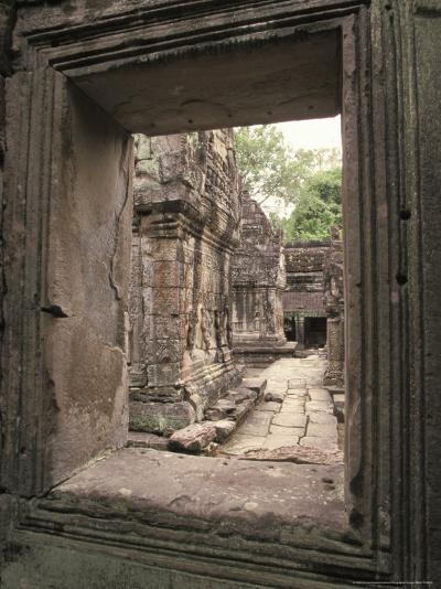 Temples of Angkor, Ta Prohm, Cambodia-Richard Nowitz-Photographic Print