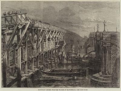 Temporary Bridge over the Thames at Blackfriars--Giclee Print