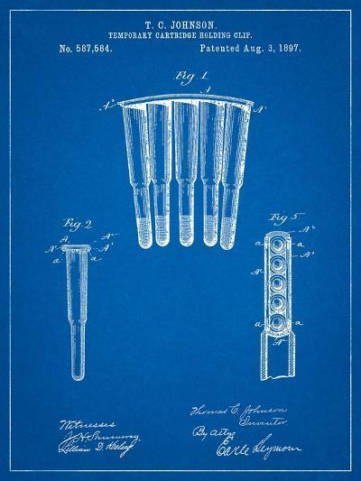 Temporary Cartridge Holding Clip 1897 Patent-Cole Borders-Art Print