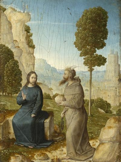 Temptation of Christ in the Wilderness, c.1500-4-Juan de Flandes-Giclee Print