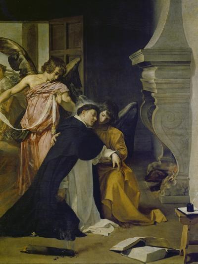 Temptation of St. Thomas Aquinas-Diego Velazquez-Giclee Print