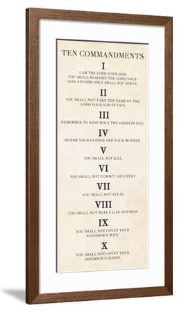 Ten Commandments - Roman Numerals-Veruca Salt-Framed Art Print