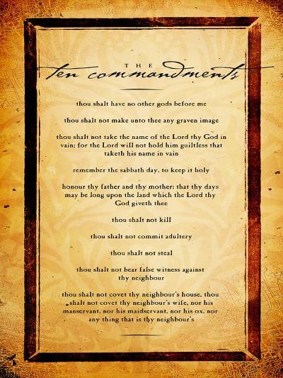Ten Commandments-Dallas Drotz-Art Print