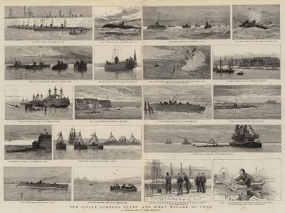 Ten Little Torpedo Boats and What Became of Them-Joseph Nash-Giclee Print