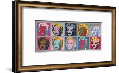 Ten Marilyns, 1967-Andy Warhol-Framed Art Print