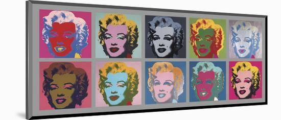Ten Marilyns, 1967-Andy Warhol-Mounted Art Print