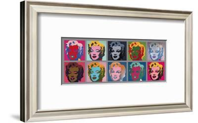 Ten Marilyns, c.1967-Andy Warhol-Framed Giclee Print