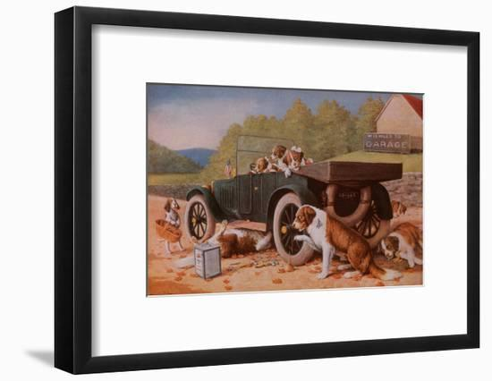 Ten Miles to a Garage-Cassius Marcellus Coolidge-Framed Art Print