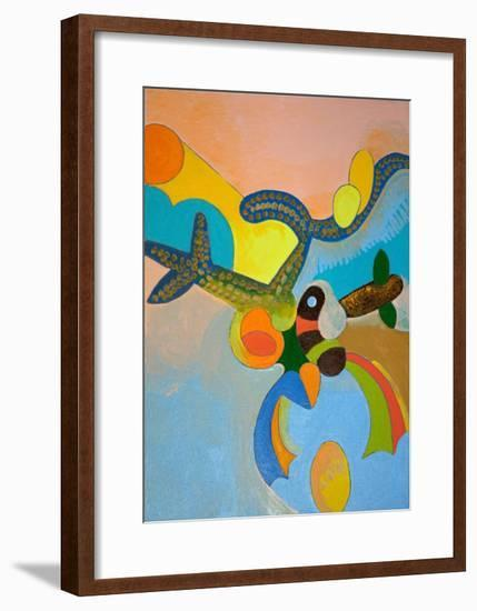 Ten Minutes after His Final Take-Off, Ikarus Gets Attacked by a Bird of Paradise, 2010-Jan Groneberg-Framed Giclee Print