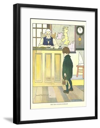 Ten O'Clock Scholar--Framed Art Print