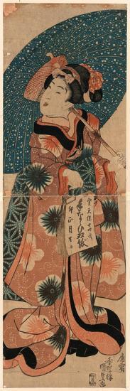 Tenaraicho O Motsu Musume-Utagawa Kunisada-Giclee Print