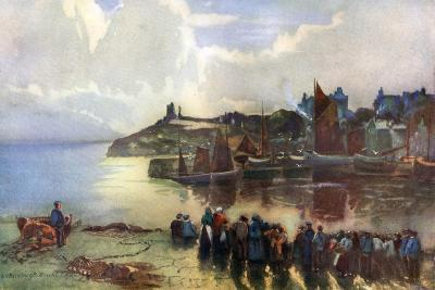 Tenby Castle and Harbour, Pembrokeshire, Wales, 1924-1926-Louis Burleigh Bruhl-Giclee Print