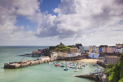 Tenby Harbour, Pembrokeshire, West Wales, Wales, United Kingdom, Europe-Billy Stock-Photographic Print