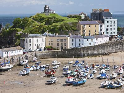 Tenby Harbour, Tenby, Pembrokeshire, Wales, United Kingdom, Europe-David Clapp-Photographic Print