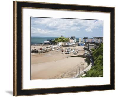 Tenby Harbour, Tenby, Pembrokeshire, Wales, United Kingdom, Europe-David Clapp-Framed Photographic Print