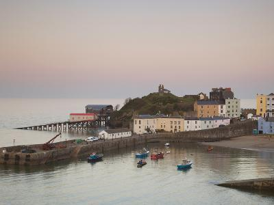 Tenby Harbour, Tenby, Pembrokeshire, Wales, United Kingdom, Europe-Billy Stock-Photographic Print