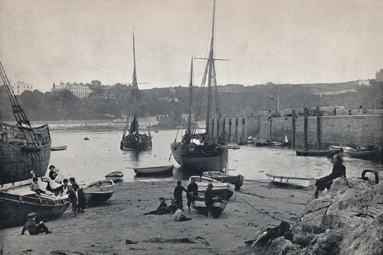 'Tenby - In the Harbour', 1895-Unknown-Photographic Print