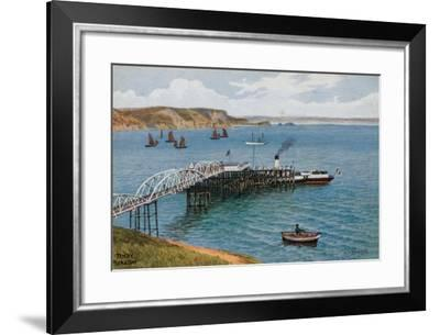 Tenby, Pier and Bay-Alfred Robert Quinton-Framed Giclee Print