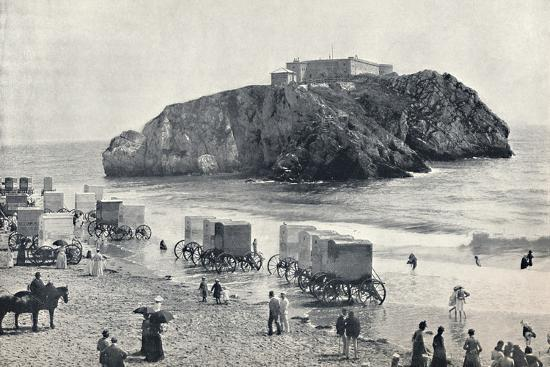 'Tenby - St. Catherine's Rock and Fort', 1895-Unknown-Photographic Print