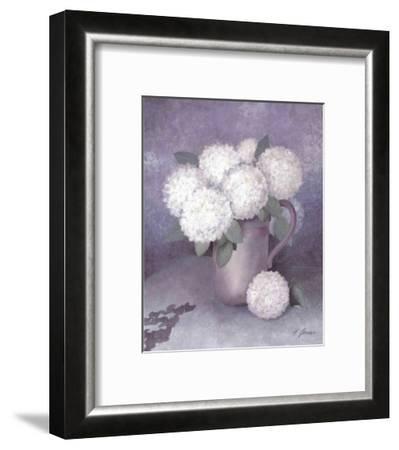 Tender Hydrangea II-Horst Jonas-Framed Art Print