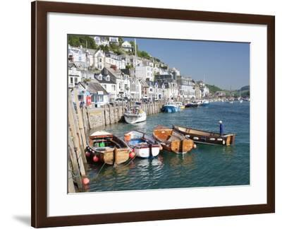 Tenders Moored on the Quayside in Looe, Cornwall, England, United Kingdom, Europe-David Clapp-Framed Photographic Print
