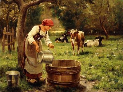 Tending the Cows-Julien Dupre-Giclee Print