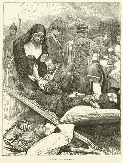Tending the Wounded, September 1870--Giclee Print