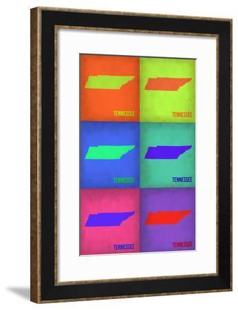 Tennesse Pop Art Map 1-NaxArt-Framed Photo