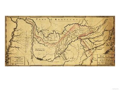 Tennessee Government - Panoramic Map-Lantern Press-Art Print