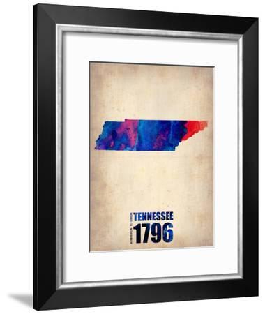 Tennessee Watercolor Map-NaxArt-Framed Art Print