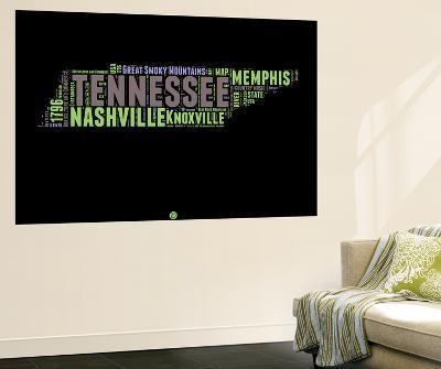 Tennessee Word Cloud 1-NaxArt-Wall Mural