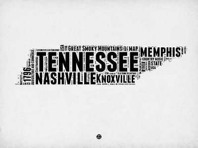 Tennessee Word Cloud 2-NaxArt-Art Print