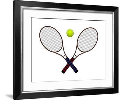 Tennis Ball and Rackets-Igor Shikov-Framed Photographic Print