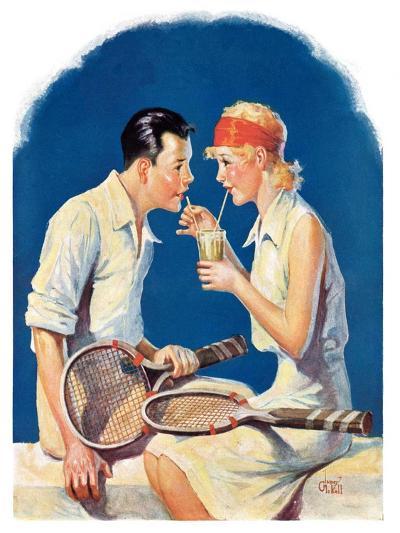 """Tennis Couple,""June 21, 1930-James C^ McKell-Giclee Print"