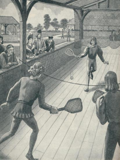 'Tennis in the Days of the Tudors', c1934-Unknown-Giclee Print