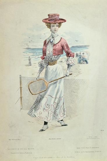 Tennis Outfit, from 'La Revue De La Mode', 1900--Giclee Print