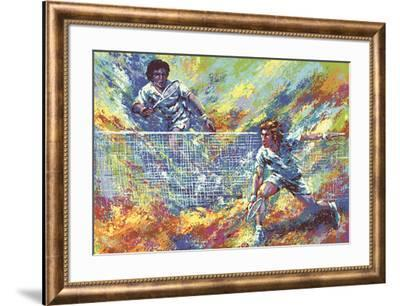 Tennis Players-Wayland Moore-Framed Serigraph
