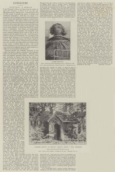 Tennyson, a Memoir-William Biscombe Gardner-Giclee Print