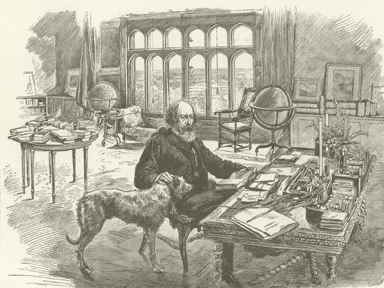 Tennyson in His Library--Giclee Print