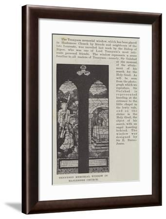 Tennyson Memorial Window in Haslemere Church--Framed Giclee Print