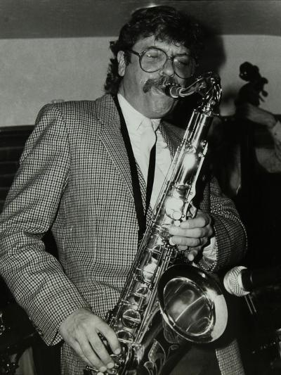 Tenor Saxophonist Alan Skidmore Playing at the Bell, Codicote, Hertfordshire, 16 November 1986-Denis Williams-Photographic Print